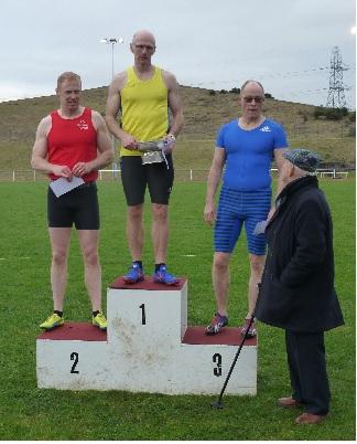 Cameron Smith - 90 metres Vets winner